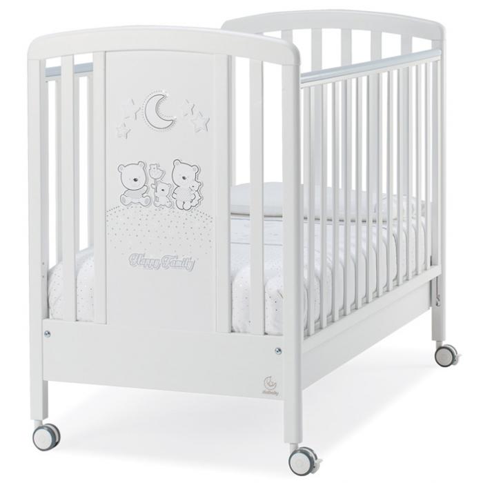 Кровать Italbaby Happy Family Strass белая со стразами