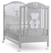 Детская кровать Italbaby Fiocco Classic бело-серая