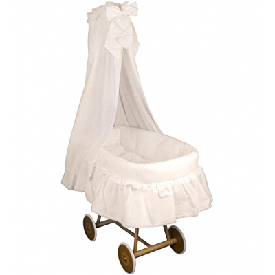 Кроватка-люлька Italbaby Amore с балдахином крем