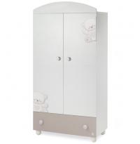 Шкаф Italbaby Jolie белый/шоколад