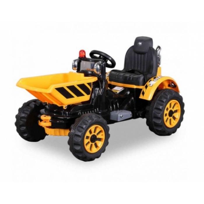 Детский электромобиль трактор на аккумуляторе Jiajia JS328C-Yellow