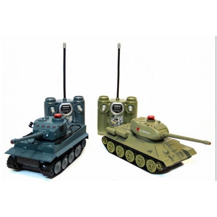Радиоуправляемый танковый бой Abtoys Т34 и Tiger 1:28