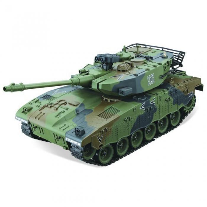 Радиоуправляемый танк Israel Merkava зеленый масштаб 1:20 27Мгц