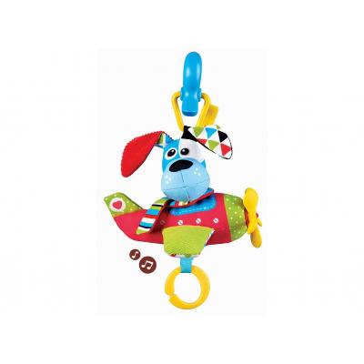 Игрушка мягкая музыкальная Yookidoo Щенок в самолете