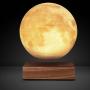 Глобус-левитрон Луны на деревянной подставке