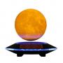 Парящий глобус Луны на зеркальной подставке