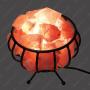 Соляная лампа Металлическая корзина с камнями большая