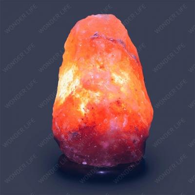 Солевая лампа Скала 2-3 кг Премиум соль красного оттенка с ДИММЕРОМ