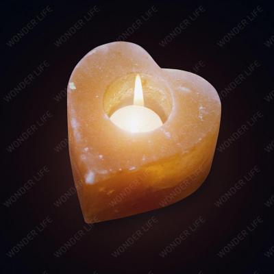 Соляной подсвечник Сердце 750-900 г подарочная коробка