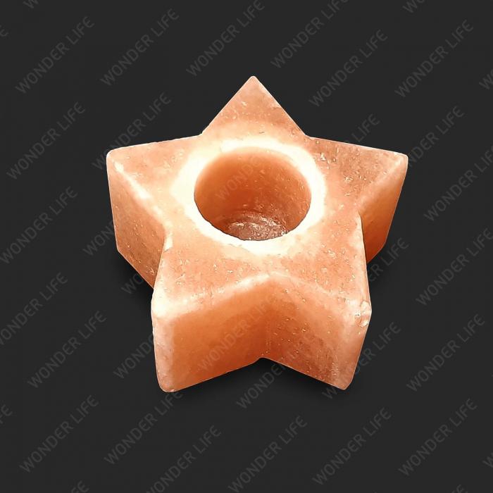 Подсвечник соляной Звезда Надежды 600-800 подарочная коробка