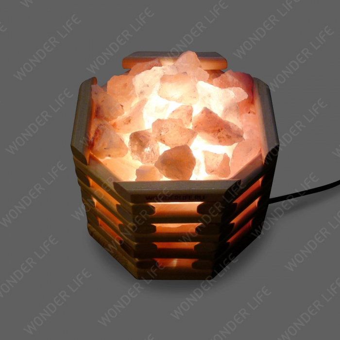 Солевая лампа Октагон светлый