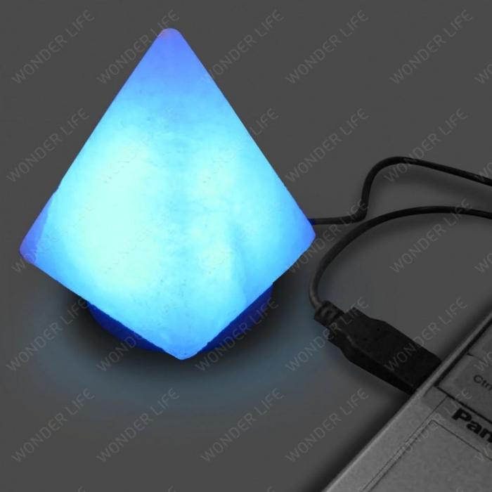 Солевая лампа USB Пирамида