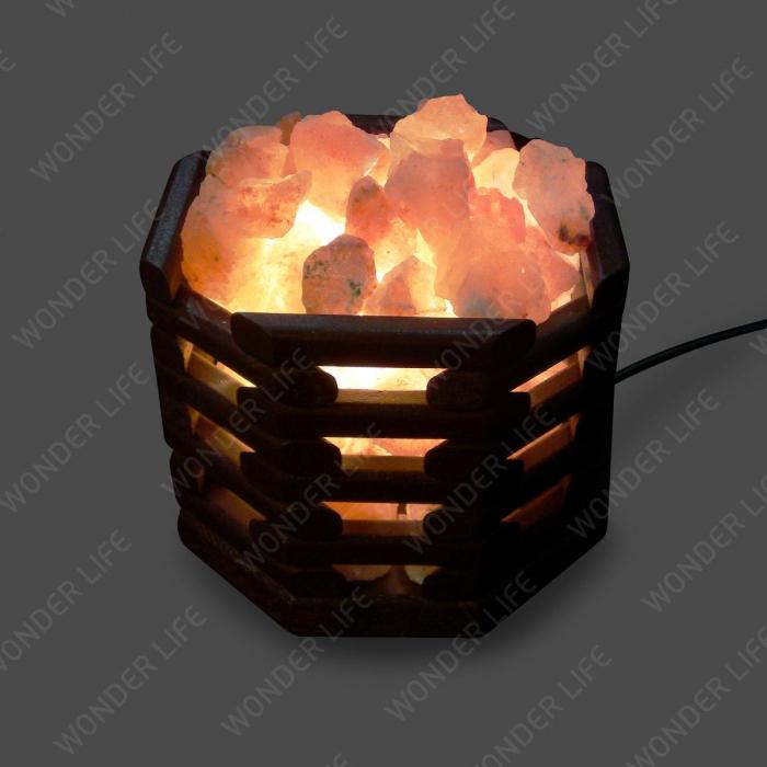 Соляная лампа Октагон темный