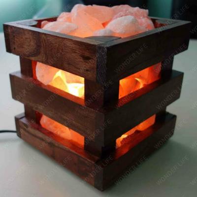 Солевая лампа WOOD весом около 4 кг