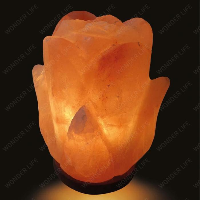 Солевая лампа Цветок 2-3 кг