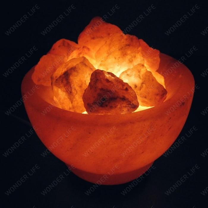 Солевая лампа Ваза с камнями 2.5-3.5 кг