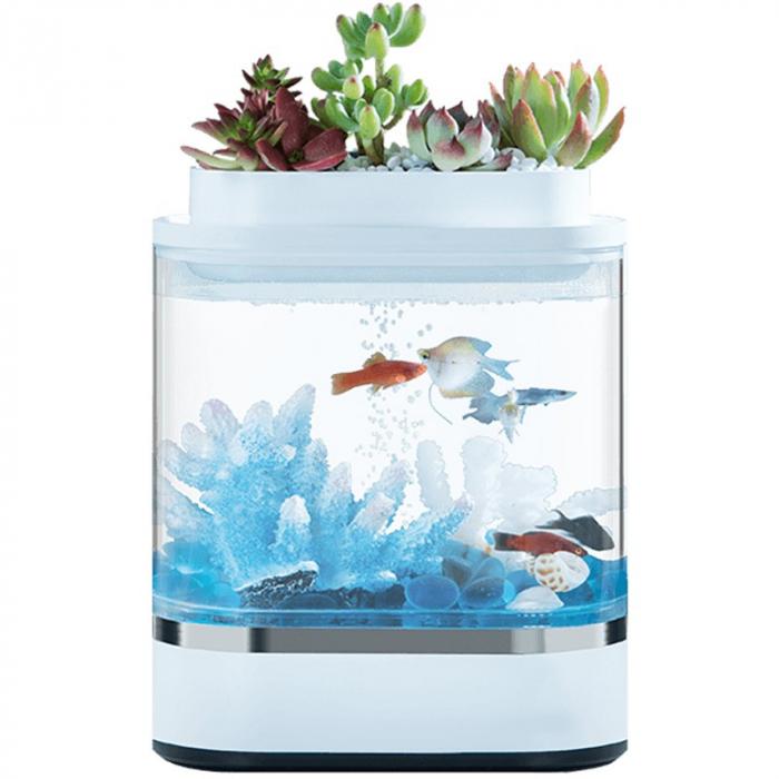 Акваферма Xiaomi Descriptive Geometry Amphibious Ecological Lazy Fish Tank Mini