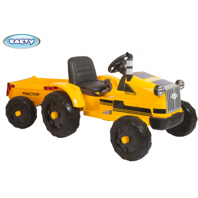 Трактор с прицепом Barty TR 55 желтый