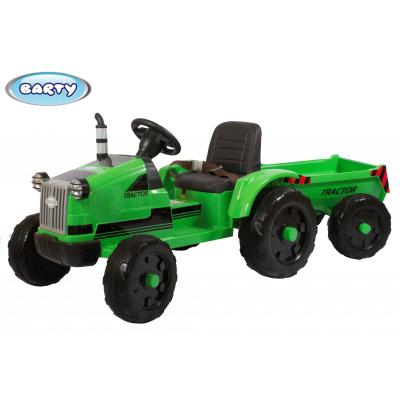 Трактор с прицепом Barty TR 55 зеленый