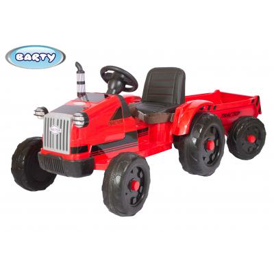Трактор с прицепом Barty TR 55 красный