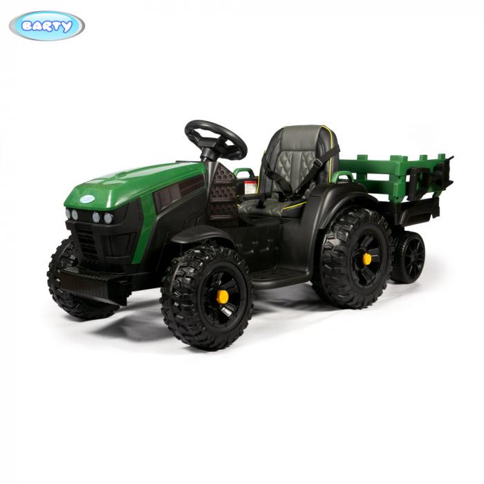 Трактор с прицепом Barty TR 777 зеленый
