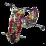 Электроскутер Дрифт Карт Drift-Trike (Drift Car) — Джунгли/Фиолетовый граффити