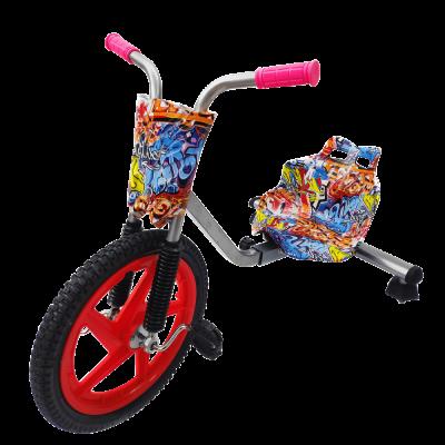 Детский трехколесный велосипед Дрифт Карт Drift-Trike - Оранжевый граффити
