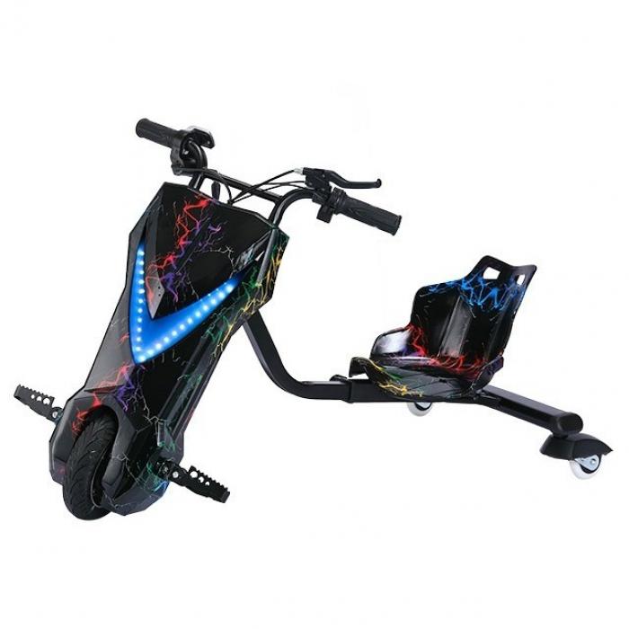 Электроскутер Дрифт Карт Drift-Trike (Drift Car) — Разноцветная молния