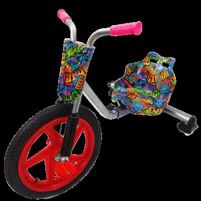 Детский трехколесный велосипед Дрифт Карт Drift-Trike - Уличное граффити