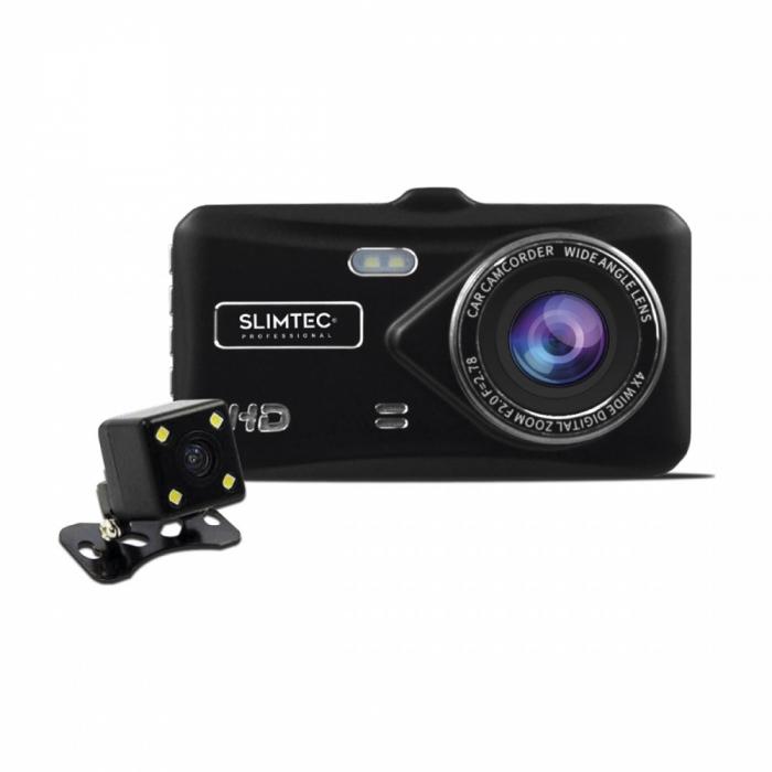Автомобильный видеорегистратор с 2 камерами Slimtec Dual X5