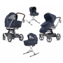 Коляска Inglesina Quad System 4 в 1 на шасси Quad Titanium Black Coffee